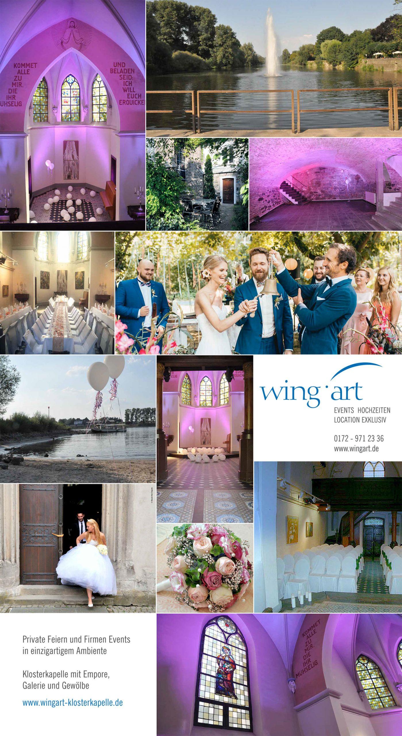 Hochzeitstraum Foto-Collage Klosterkapelle Zündorf